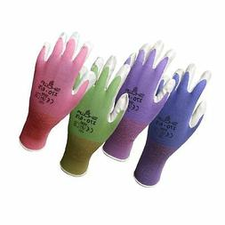 4 Pack Showa Atlas NT370 Atlas Nitrile Garden Gloves - Large