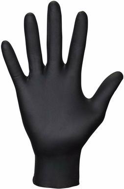 SAS Safety 66516 Raven Black 6 Mil Nitrile Gloves Size SMALL