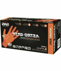SAS Safety  66574 Astro-Grip Nitrile Gloves - 1 Box Of 100