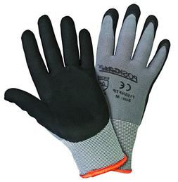 West Chester 715SNFTP/S Black Foam Nitrile Palm Dip Glove on