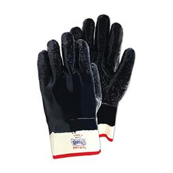 SHOWA 7166R-10 Fully Coated Nitrile Glove, Rough Grip, Cotto