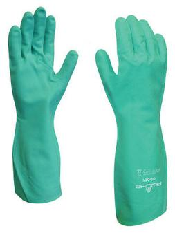 SHOWA 730 CHEMICAL RESISTANT CLEANING GLOVES FLOCK LINED SZ