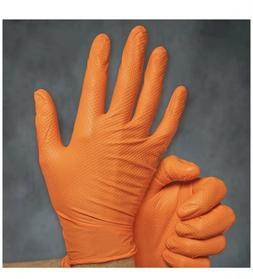 9 mil Nitrile  heavy duty - 2 BOX  5LBS -Gloves Orange Large
