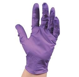 "9-1/2"" Kimberly Clark Purple Nitrile Powder-Free Exam Gloves"