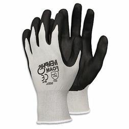 Memphis Glove 9673L Foam Nitrile Gloves, Large, Black/Gray