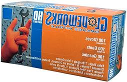 Ammex GWON Gloveworks X-Large Orange Nitrile Gloves