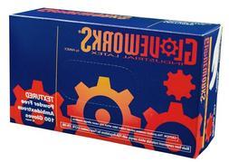 Case of 10 Boxes Ammex TLF46100 GloveWorks Latex Powder Free