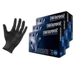 Black Nitrile Exam Tattoo Gloves, Powder Free, Latex Free, S
