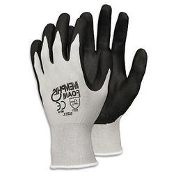 -- Economy Foam Nitrile Gloves, Gray/Black, Dozen