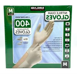 Kirkland Signature Nitrile Exam Gloves, Size Med. 200-Count