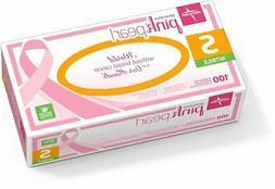 Medline Generation Pink Pearl Nitrile Exam Gloves, Pink, Sma