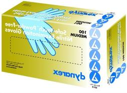 Safe-Touch Non Sterile Blue Nitrile Exam Gloves, Non-Latex,