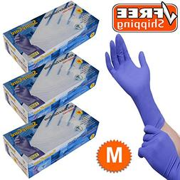 SunnyCare #8702-3 ; 3 Boxes Nitrile Exam Glove High Risk Hea
