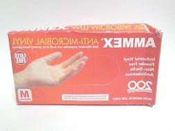 AMMEX - AAMV44100-BX - Vinyl Gloves - Anti-Microbial,Powder