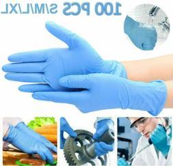 AMMEX ABNPF46100BX Medical Black Nitrile Gloves, Large - 100