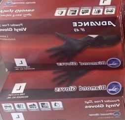 Advance IF 49 Diamond Gloves Black Vinyl Gloves Powder Free