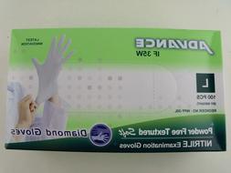 Diamond Gloves Advance Powder-Free Textured Soft Nitrile Exa