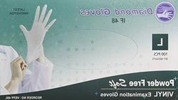 Diamond Gloves Advance Powder-Free Soft Vinyl Examination Gl