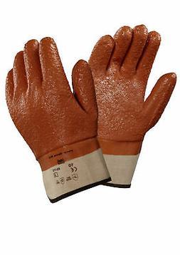 Ansell Winter Monkey Grip Fully Vinyl Coated Jersey Gloves,