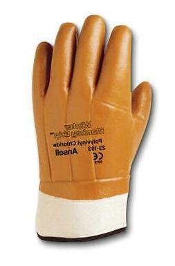 Ansell Winter Monkey Grip Vinyl-Coated Gloves, 12 Pairs