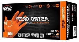 SAS Safety 66575 Astro Grip Powder Free Orange Nitrile Glove
