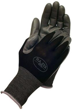 ATLAS 370 SHOWA BLACK LARGE NITRILE GARDENING WORK GLOVES 6-