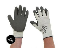 Showa Atlas 451 Gray Thermal Work Gloves Medium 12 Pack
