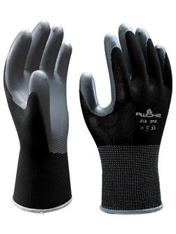 SHOWA ATLAS FIT 370 BLACK NITRILE GARDENING WORK GLOVES, 1 D