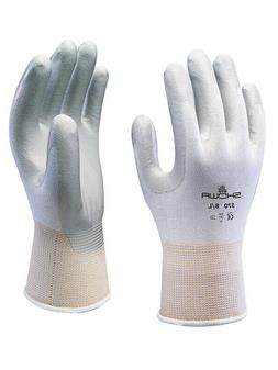 SHOWA ATLAS FIT 370W WHITE NITRILE GARDENING WORK GLOVES -