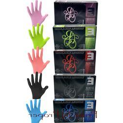 ELEGANCE Barber Stylist Disposable Nitrile Gloves Black Blue