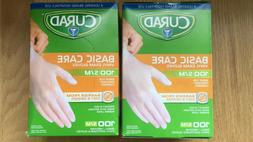 Curad Basic Care Vinyl Exam Gloves - 200 Total Gloves - Size