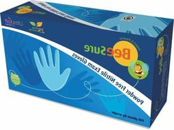 be1116 beesure nitrile exam gloves small non