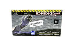 Diamond Gloves Black Advance Nitrile Powder-Free Gloves, Med