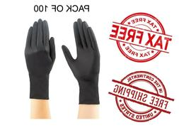 Black Gloves Nitrile Powder Free Latex Rubber Heavy Duty Dur