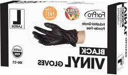 Black Gloves Nitrile Powder Free Latex Rubber Heavy Duty Dur