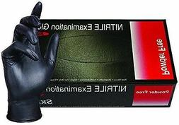 Black Gloves SkinTx Nitrile Exam Powder Free DDS Tattoo Medi