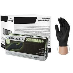 AMMEX Black Medical Nitrile Exam Latex Free Disposable Glove