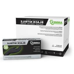 AMMEX Black Medical Nitrile Exam Latex Free Disposable Glove