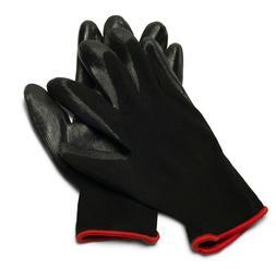 Grey Nitrile Dipped Nylon Work Gloves Sizes: Small, Medium,