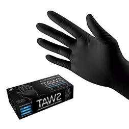 Black Nitrile Disposable Tattoo EXAM Food Cleaning Gloves Po