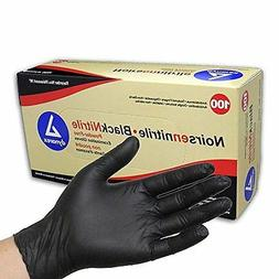 Dynarex Black Nitrile Exam Gloves, Md, Powder Free 100 Count
