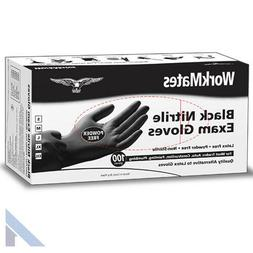 WorkMates Black Nitrile Gloves 100 count - Small and XXL siz