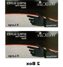 Black Nitrile Gloves 200 PCS  X-large 2 Box