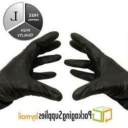 Black Nitrile Medical Exam Gloves Powder-Free 4 Mil Thick S