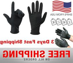 Black Nitrile Gloves 6 Mil Powder-Free Exam Size: X-Large 10