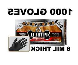 PITBULL Black Nitrile Gloves, 6 mil, Powder Free, Case of 10