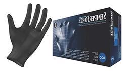 Black Nitrile Gloves, Powder Free, Latex Free, Semperforce,