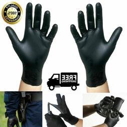 Black Nitrile Gloves Disposable Mechanic Food Exam Gloves Po