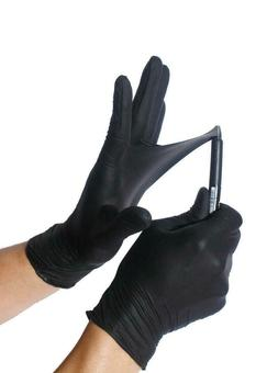 BLACK Nitrile Gloves EXTREMELY DURABLE  Powder free EXAM 50