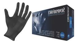 Black Nitrile Gloves, Powder Free, Latex Free, Semperforce®